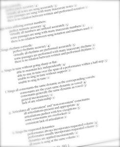 YHS Choral Standards 2011-2012